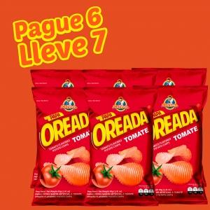 Papa Oreada Tomate 40 g (Display PAGUE 6 LLEVE 7 UND.) - Productos la victoria