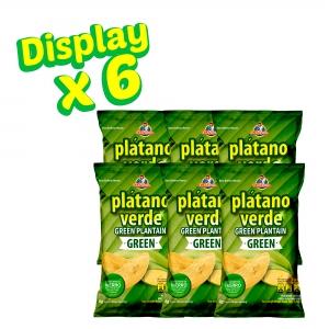 Plátano Verde Green 70 g (Dislpay x 6 UND.) - Productos la victoria