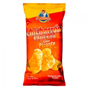 Chicharrón Express Picante 20 gr. (Display x 10 UND.)