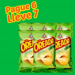 Papa Oreada Limón 40 g (Display PAGUE 6 LLEVE 7 UND.) - Productos la victoria