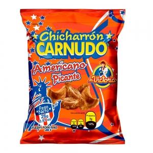 Chicharrón Carnudo Picante 25 g (Display x 6 UND.)