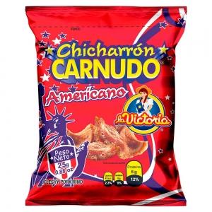 Chicharrón Carnudo Natural 25 g (Display x 6 UND.)