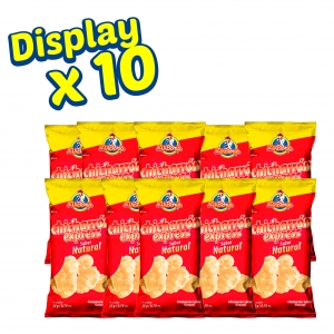 Chicharron Express Natural 20 gr. (Display x 10 UND.) - Productos la victoria